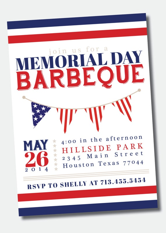 items similar to customizable memorial day july 4th bbq picnic