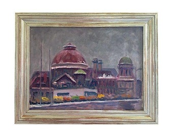 1950s Canadian Exhibition Place Oil Painting