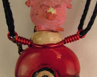 Pokemon Chancey Oil Diffuser Necklace  Hand Sculpted OoAK  (D)
