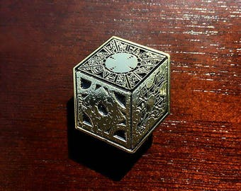 Hellraiser Puzzle Box Enamel Pin | The Lament Configuration | Pinhead | Horror Movie | Lapel Pin | Denim Jacket Gift