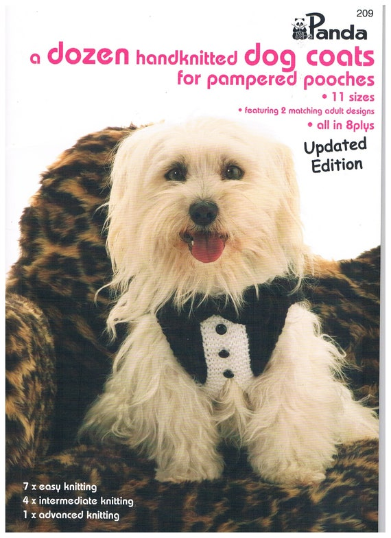 A Dozen Hand Knitted Dog Coats For Pampered Pooches Patterns