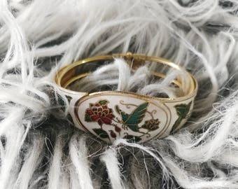 Butterfly Inlaid Cuff Bracelet
