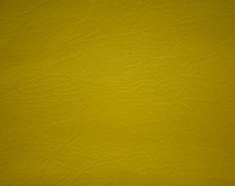 "Vintage Yellow Vinyl 50's Chair Upholstery Fabric 54"" x 64"" covers 4 - 6 chairs"