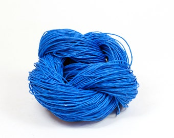 Paper Yarn - Paper Twine: Blue - Knit, Crochet, Textile Arts, DIY Supply, Gift Wrap, Weave - Washable and Eco-Friendly