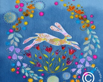 Mounted Fine Art Print of the Summer Hare