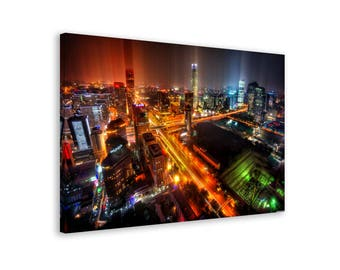 Beijing - Framed Urban Wall Art Canvas Print // 6 Sizes - medium to large // High Quality // Fast & Free shipping to EU