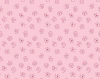 Bee Basics By Lori Holt Blossoms Pink (C6404-Pink)