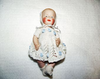 Antique Repro Doll, ca. 14,5 cm (109)