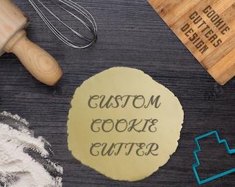 Custom cookie cutter, Custom cookie stamp, Personalized cookie cutter