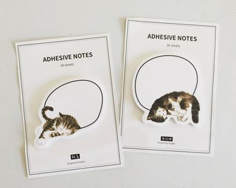 Cat Sticky Notes, Kawaii Post It Notes, Kitty Reminder Notes, Memo Pad Stickers, Planner Sticky Notes, Cat Lover Gift, Crazy Cat Lady Gift