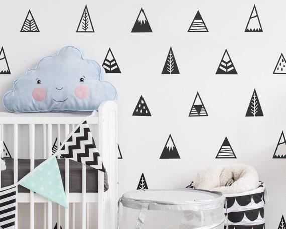 Mountain Wall Decals Nursery Decals Triangle Decals - Vinyl wall decals kids