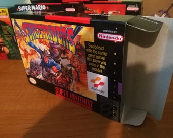 Sunset Riders Super Nintendo SNES Reproduction Box! Best Repros in the world!