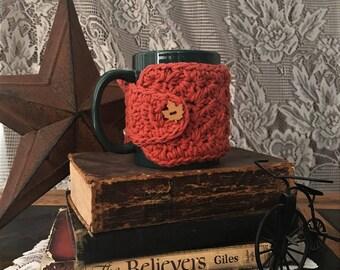 Crochet Dishcloth cup cozy