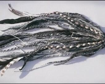 Salt and Pepper Feather Fall- CUSTOM MADE