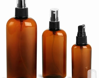 Amber PET Plastic Spray Bottles with Spary Top