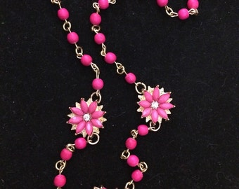 SALE!!!! Hot Pink Summer Nights Necklace
