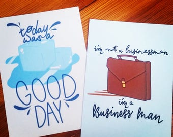 Hip-Hop Inspirational Postcards 2 Pack