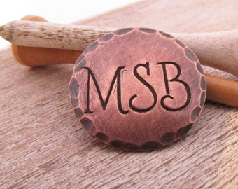 Personalized Ball Marker  - Groomsman Gift - Copper or Silver Golf Ball Marker - Personlized Golfer Gift - 7 year anniversary - copper