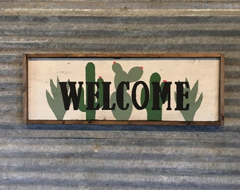 Cactus Welcome Sign