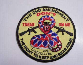 2nd Amendment Don't Tread on Me patch