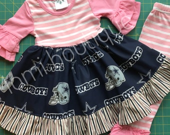 Cowboys dress Texas Dallas Cowboys football dress Momi boutique custom dress