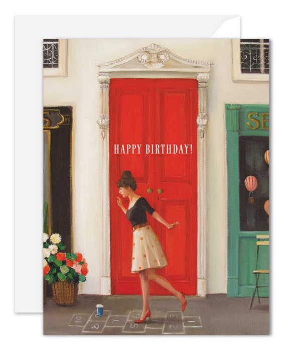 Hopscotch. Birthday Card. SKU JH1113