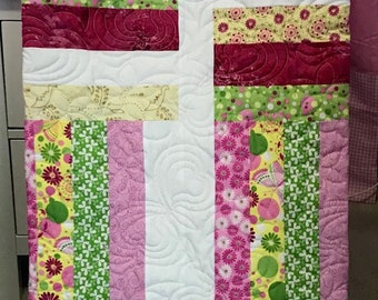 Rail Fence Renewal Twin Quilt