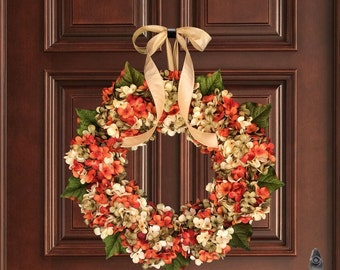 Summer Wreath | Front Door Wreath | Hydrangea Blended Wreath | Wreath | Summer Door Wreath | Housewarming Gift | Hostess Gift