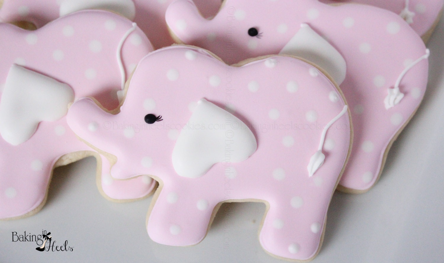 Elephant Baby Shower Cookies Pink Elephant Cookies Baby