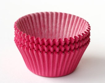 SALE: Pink Cupcake Liners (50) Baby Shower Baking Cups, Pink Baking Cups, Pink Wedding Cupcake Liners