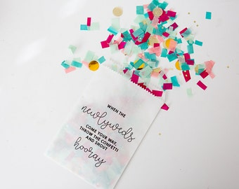20 Bags // Wedding Toss Confetti Bag
