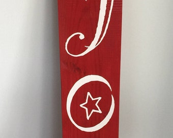 Joy Christmas Wood Sign