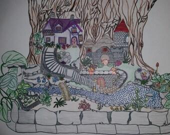 Afdrukbare kleuren pagina, Fairy boom