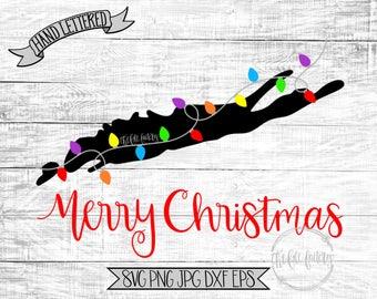 Merry Christmas Long Island New York Christmas Lights SVG / Merry Christmas Y'all Cut File and Printable / Commercial Use