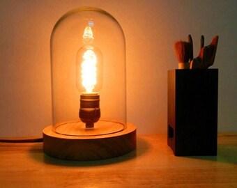 light wood and glass