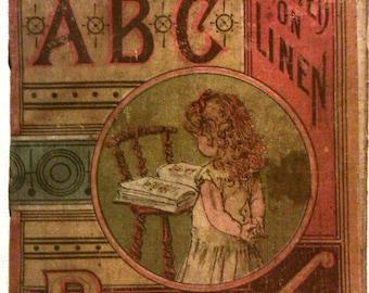 Little ABC Book, (Printed on Linen), McLoughlin Bros, NY, 1884