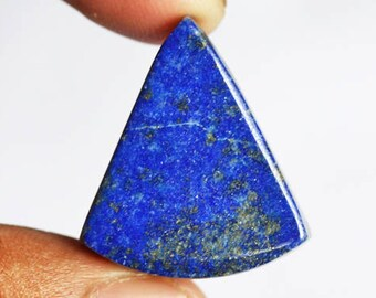 Fabulous Triangle Shape Natural Blue Lapis Lazuli Cabochon, Size 25X22X7 MM, Jewellery Supplies, Pendant Gemstone, Calibrated, Minerals 5995