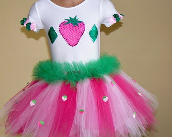 Strawberry Shortcake Toddlers Costume Size 2T - Girls 7