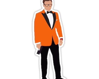 Eggsy Sticker Decal Kingsman Secret Service Orange Tux Taron Egerton Colin Fitch Manners Maketh man Car Yeti Laptop  Macbook Sticker Decal