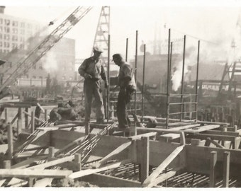 "Vintage Photo ""Industrial America"" Smokestacks Architecture Social Realism Found Vernacular Snapshot"