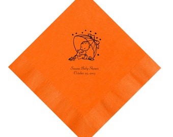 Personalized Baby Shower Umbrella Napkins Set of 100 Napkins