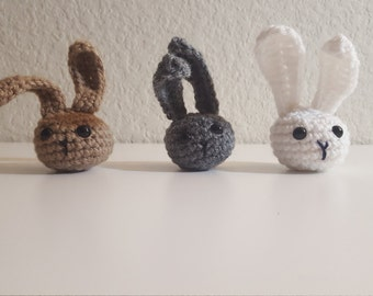 Bunny Amigurumi Toy, Crochet Bunny Toy, Crochet Rabbit Toy, Amigurumi Rabbit, Catnip Toy, Crochet Cat Toy