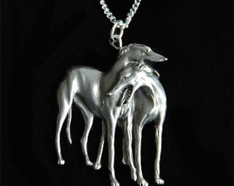 Greyhound Necklace - Whippet Galgo Dog - Jewelry