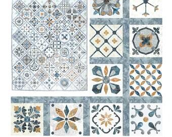 Hoffman - Metro Tiles by Susan Claire - Precut & Prefused Applique Kit - Part 4 - Blocks 31 thru 40 - Dove - SCMT4-542