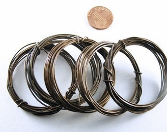 50 Feet Antiqued - Oxidized Pure Brass Wire 22ga Dead Soft -- by Special Order