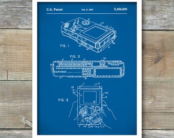 Patent Poster, Game Boy Nintendo Poster, Game Boy Nintendo Patent, Game Boy Nintendo Print, Game Boy Nintendo Art, Game Boy Decor P151