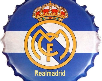 REAL MADRID FC - Bottle Top Wall Tin