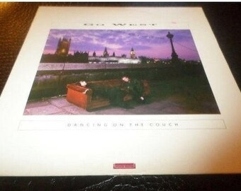 Vintage 1987 Vinyl LP Record Go West Dancing on the Couch Excellent Condition Chrysalis Records