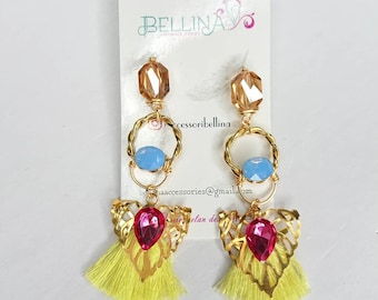 Beautiful and bohemian earrings created by hand look different