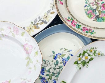 Job Lot of 4 (4 pcs) Vintage Mismatched China Mix Oval Serving Platters Plates Meat - Tableware Mad Hatters Tea Party Wedding Crockery